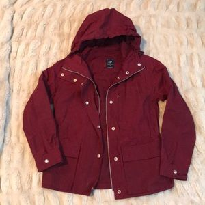 Red raincoat from Gap